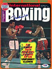Muhammad Ali & Ron Lyle Autographed Signed International Boxing PSA/DNA S01582