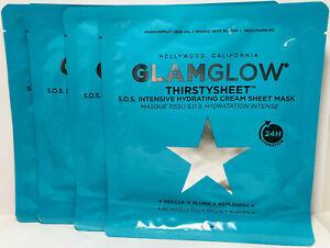 Glamglow Thirstysheet S.O.S. Intensive Hydrating Cream Sheet Mask X4