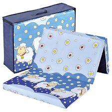 Bambini klappbare Reisebettmatratze Reisematratze 120x60 cm Schäfchen NEU