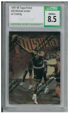 1997-98 Topps Finest #39 Michael Jordan w/ Coating CSG 8.5 NM/Mint+ BZ701