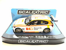 "Scalextric ""IGH"" BMW 125 1 Series BTCC PCR DPR W/ Lights 1/32 Slot Car C3784"