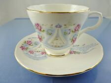 PRINCE WILLIAM OF WALES 1982 FOOTED TEA CUP & SAUCER SET BY CROWN TRENT ENGLAND