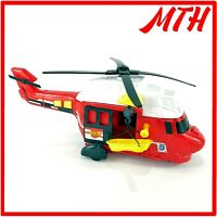 Dickie Toys Rescue Helicopter Red Lights & Sounds Interactive Toy - VGC