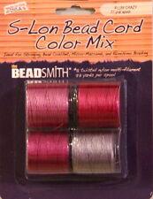 "S-LON, Bead Cord, 4 Color Mix ""PLUM CRAZY"", Extra Heavy #18 Twisted Nylon Cord"