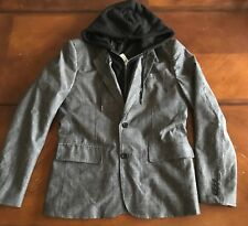 G By Guess Herschel Chambray Combo Blazer Hoodie Jacket NWT