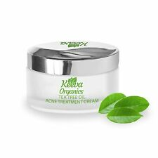 Keeva Organics Tea Tree Oil Acne Treatment Cream With Essential Oils 1 oz