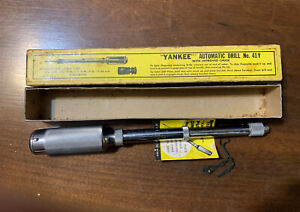 """Stanley Yankee No 41Y Automatic Push Drill """"Excellent"""" in Original Box"""