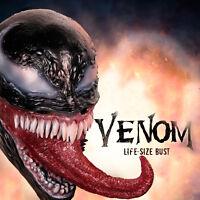 Movie Venom Cosplay Face Mask Eddie Brock Latex Scary Unisex Halloween Props