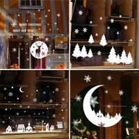 Christmas Snowflakes Window Clings Xmas Stickers For Home Shop Decor Removable