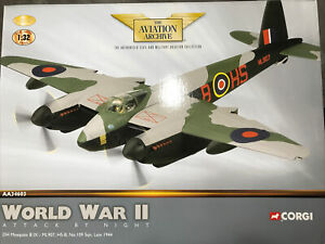 Corgi Aviation AA34603 DH Mosquito B IX ML907, HS-B, No109 Squadron,Ltd Ed Rare