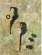 PUBLICITE ADVERTISING 074  1977  PATEK PHILIPPE   montres joaillerie