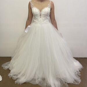 Justin Alexander Wedding Dress UK Size 10 Style Annabella Ivory (#H1/08)