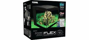 Fluval Flex Nano Aquarienset Aquarium + LED Avec Télécommande 57L Noir 15007