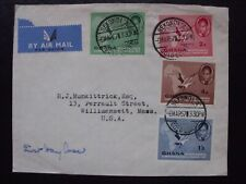 Ghana Gold Coast Airmail cover 1957 to USA #GZP#