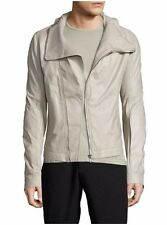 NEW Rick Owens Men's Leather Biker Jacket Cream, Size 48