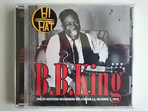 B.B. KING UNITED WESTERN RECORDERS HOLLYWOOD OCTOBER 1972 HHCD008 NEW SEALED