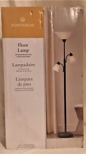 Portfolio Oil-Rubbed Bronze Torchiere with Reading Light Floor Lamp