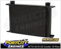 Aeroflow Engine or Transmission Oil Cooler 19 row 146mm x 330m x 51mm AF72-4019