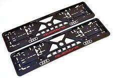 2x Kennzeichenhalter Nummernschildhalter für AUDI QUATTRO