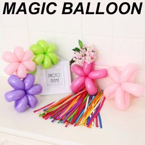 100Pcs Long Magic Animal Making Twist Mix Colour Latex Birthday Modelling Ballon