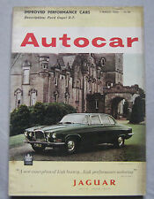 Autocar 11/3/1963 featuring Renault Floride Carvelle road test, Ford Capri GT