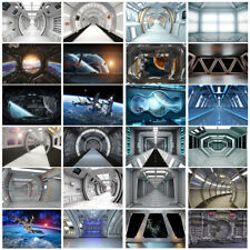 Space Station Capsule UFO Backdrop Studio Photography 7X5/8X8FT Background Props