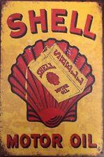 SHELL Garage Retro Vintage Metal Tin Sign Rustic Look ..  AU SELLER
