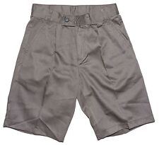 Brownscombes Boys Pleated Shorts Classic Grey Charcoal School Shorts