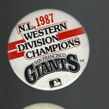 1987 San Francisco Giants National League West Champions 3-Inch Pinback Button