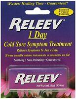 2 Pack RELEEV 1 Day Cold Sore Symptom Treatment 0.20 Oz Each