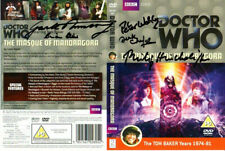 Doctor Who: THE MASQUE OF MANDRAGORA DVD Cover Signed by the Cast and Crew