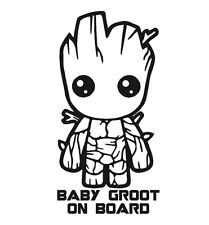 Baby GROOT on board Guardians of the Galaxy vinyl decal sticker sign safety
