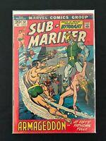 SUB-MARINER #51 MARVEL COMICS VG 1972