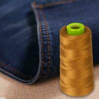 2000M Polyester THREAD Upholstry Jeans Denim Button Gold Craft Color Sewing I2H7