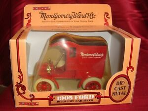 NEW Ertl 1905 Ford Montgomery Ward Company Delivery Car Bank 1/25 Die Cast Metal