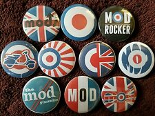 Mod Button Badges x 10.  Pins. Collector. Bargain :0)