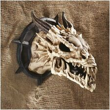 CL4864 - Horned Dragon Skull Wall Trophy - New!