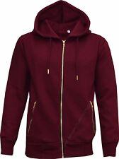 Mens Plain Slim Fit Tracksuit Set Fleece Hoodie Top Bottoms Jogging Joggers Gym Burgundy 2xl