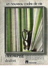 PUBLICITE  1970   TRIOMPHE  rideaux voilages