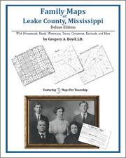 Family Maps Leake County Mississippi Genealogy MS Plat