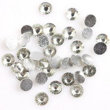 ON SALE 400pcs Clear White Cone Face Charms Nail Art Stick On Resin Rhinestones