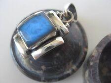 Labradorite Silver Pendant ~ Amazing blue iridescence