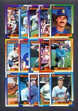1990 Topps Seattle Mariners TEAM SET (34) w/ Traded - Ken Griffey