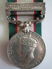 British India General Serv. Medal - N.W.F.1936-37 to Sep Piar Singh 5-12 F.F.R.