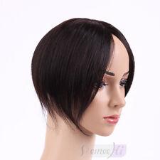 Cover gray hair short hairpiece men women top human hair piece topper hairpiece