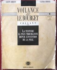 Le Bourget Voilance Satin Sheen Tights Pantyhose Marine Size 5 XLarge