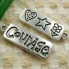 Free Ship 30 pieces tibetan silver Courage charms 30x10mm #4658