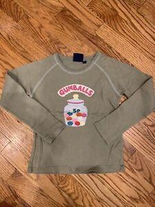 Mini Boden Gumball Applique Green Tee Shirt Size 7 8