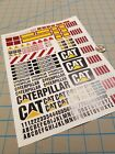 New Caterpillar Scale Construction Decals for 1:12/1:14/16 RC with Extras