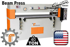 New Cjrtec 40 Ton Beam Clicker Press Die Cutting Machine